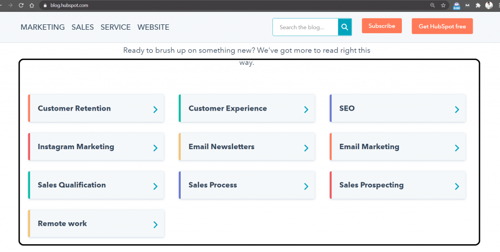 Hubspot user interface   Best Marketing Blogs To Follow In 2021   getdigitaloffice.com